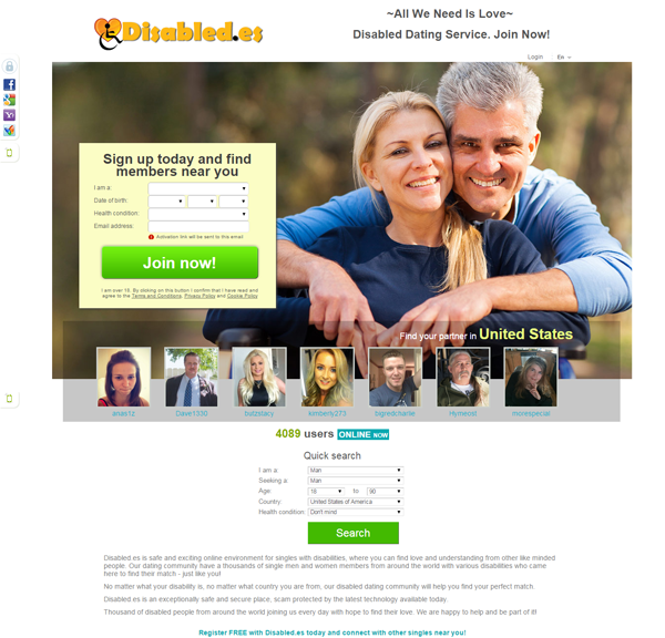 Free disabled dating site usa